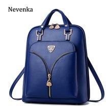 Nevenka mochila antirrobo de cuero para mujer, Mini mochila de viaje para niñas, mochilas escolares, bolso negro para mujer 2018