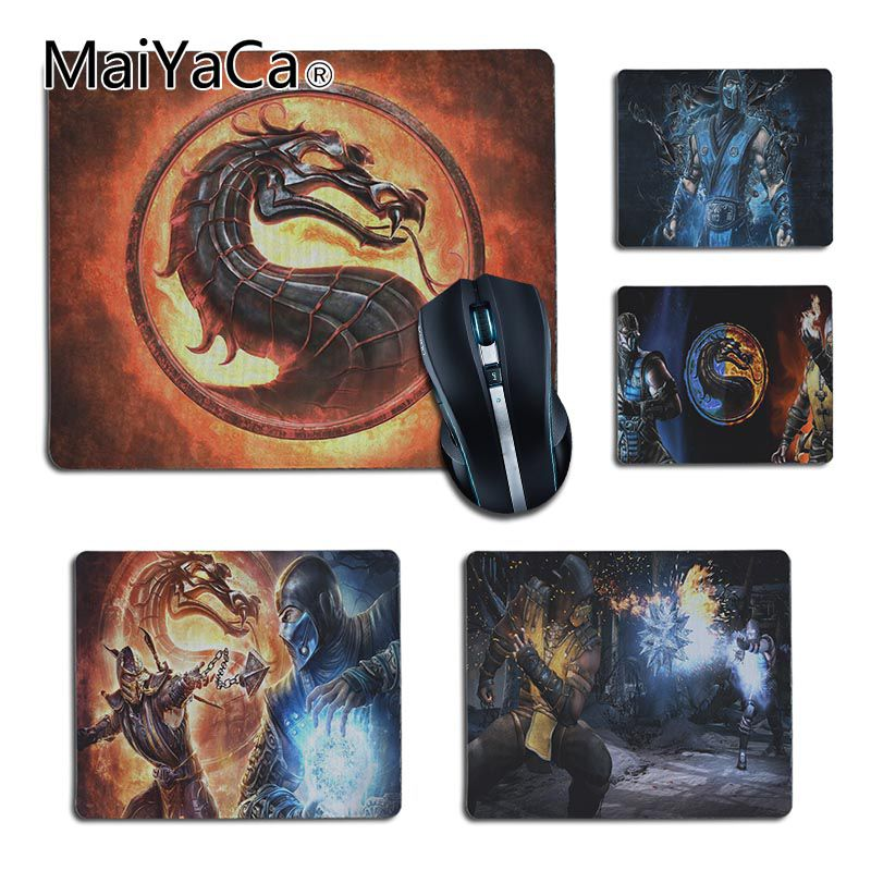 MaiYaCa New Printed Mortal Kombat Comfort small Mouse Mat Gaming Mouse pad Size 25x29cm 18x22cm Rubber Mousemats
