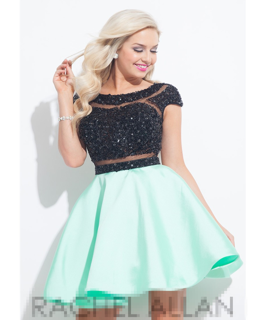 US $127.99 |Plus Size Sequined Homecoming Dresses With Cap Sleeve Black And  Mint Green Party Dresses 2016 Shorti Girl Dresses Sh00402-in Homecoming ...