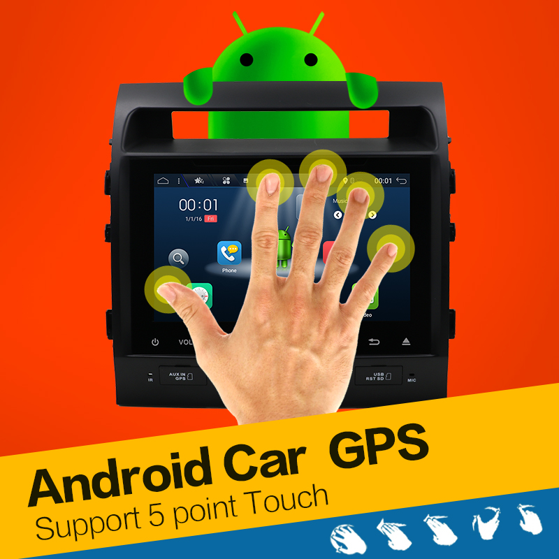 10.1 inch Android 7.1.1 Car Dvd Gps for Toyota Land Cruiser LC200 Landcruiser Radio Multimedia Audio GPS Navigation Head Unit 4G