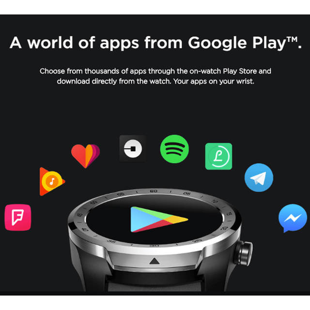 US $230 33 26% OFF|[Global Version] Ticwatch PRO Android wear NFC Google  Pay GPS Smart Watch IP68 Waterproof AMOLED Display smartwatchs for Men-in
