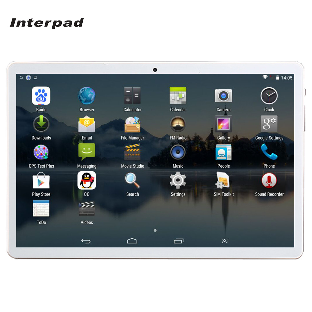 Original 10.1 inch tablet PC Android 4.4 MTK6582 Quad Core 3G Phone call tablet IPS 1280x800 Wifi GPS 2G+16G Interpad tablets 7 cubot one s mtk6582 quad core android 4 2 2 wcdma bar phone w 4 7 ips qhd wi fi and gps red