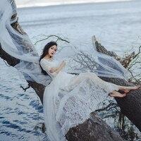 Wedding Hot Sell 2017 High Quality Lace Dress Shirt Dress Set Two Piece Dress Seaside Resort