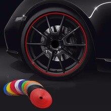 8 м/рулон Rimblades автомобильные цветные колеса обода протекторы Декор полосы шин защитная линия резиновая Литье отделка