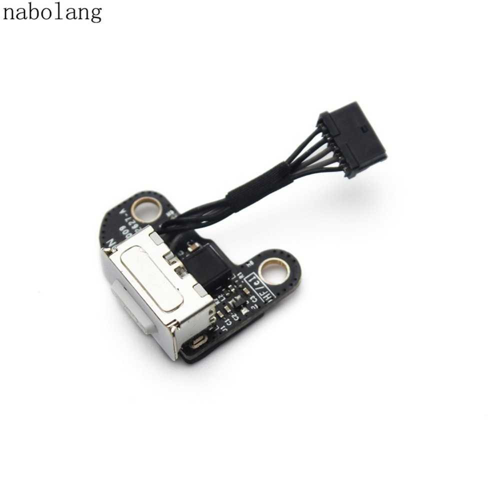 New DC Power Jack Board 820-2627-A cable Replacement parts for Macbook A1342 for macbook air usb i o audio board 820 3213 a 11 laptop a1465 power dc jack md223 md224 2012