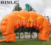 8x5m wonderful design halloween inflatable pumpkin arch huge inflatable entrance archway for outdoor decoration