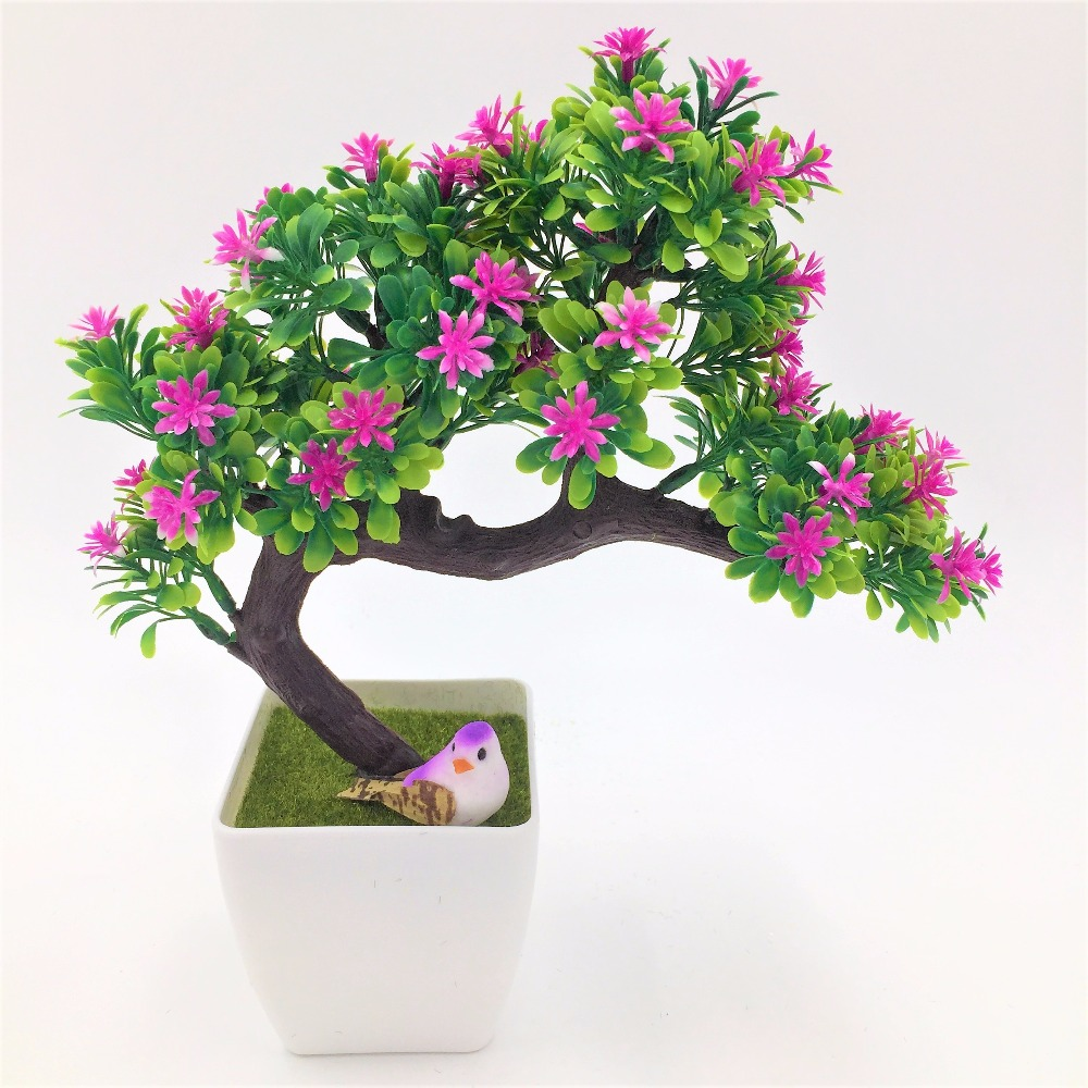 wedding decration diy Artificial decorative flowers wreaths plants tree flower bonsai fake flowers pine Komatsu flower vase
