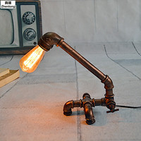 Simple Industrial Wind Iron Table Lamp Image Decorative Lamp Restaurant Supermarket Bar Cafe Front Desk E27 LED Bulb Desk Lights