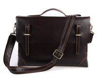 J.M.D Retro Crazy Horse Leather Men's Handbags Multi Functional Briefcase Laptop Bag 7228Q