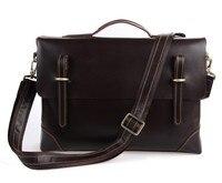J.M.D Retro Crazy Horse Leather Men's Handbags Multi Functional Briefcase Laptop Bag 7228Q