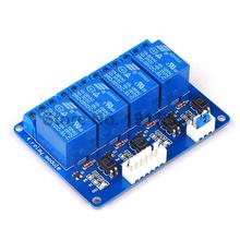Free Shipping 1PCS/LOT 5V 4-Channel Relay Module Shield for Arduino 5V 4 Channel Relay Module