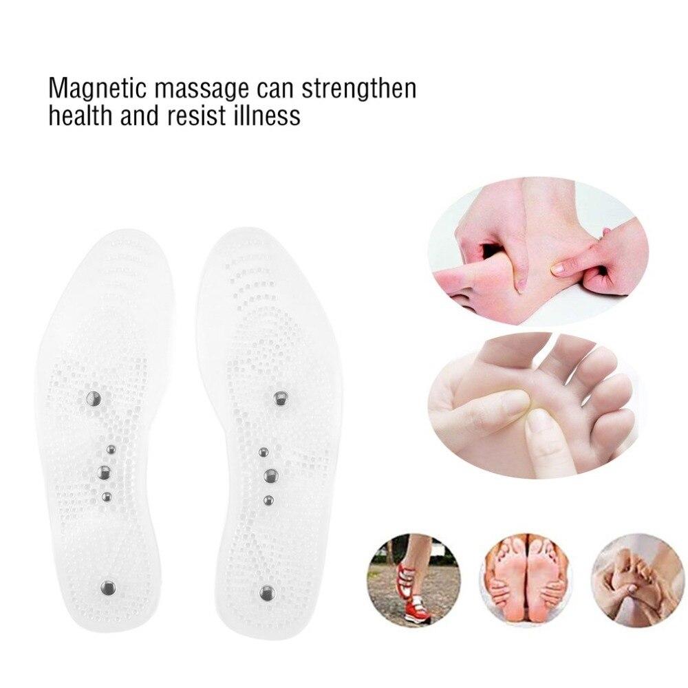 Новинка, для мужчин и женщин, магнитная терапия, для похудения, пластырь, стелька, прозрачный силикон, Анти-усталость, акупунктура, массаж, для похудения