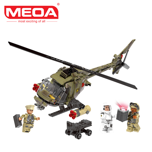 Meoa 621pcs Xingbao 06013 Military Micro Blocks Fighting Helicopter