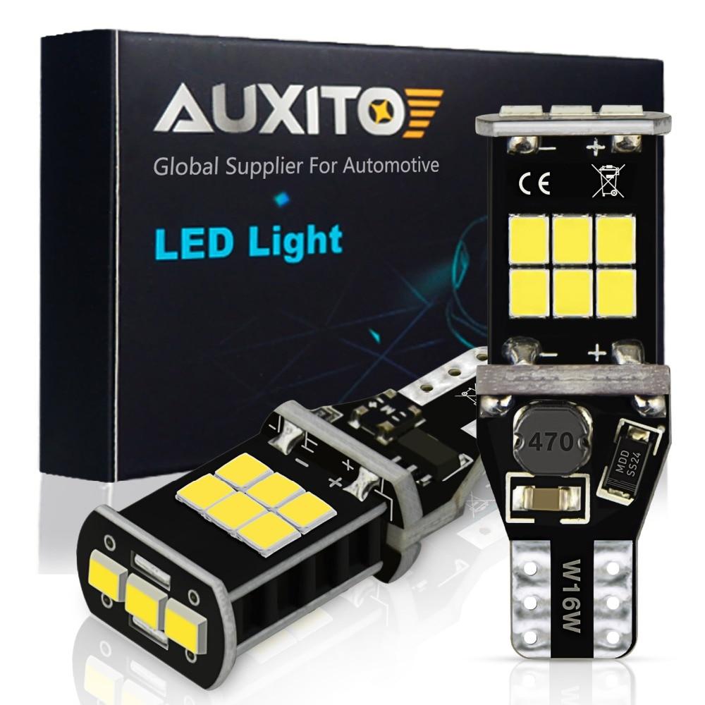 AUXITO W21W P21W LED Canbus BA15S 1156 W16W T15 LED Car Reverse Lights T25 3157 3156 7443 T20 LED Light Bulb No Error White Lamp