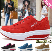 Fashion Women Sneakers Height Increasing Summer Breathable Waterproof Wedges Platform Shoes Woman Pu Leather Casual Shoes Tenis цена 2017