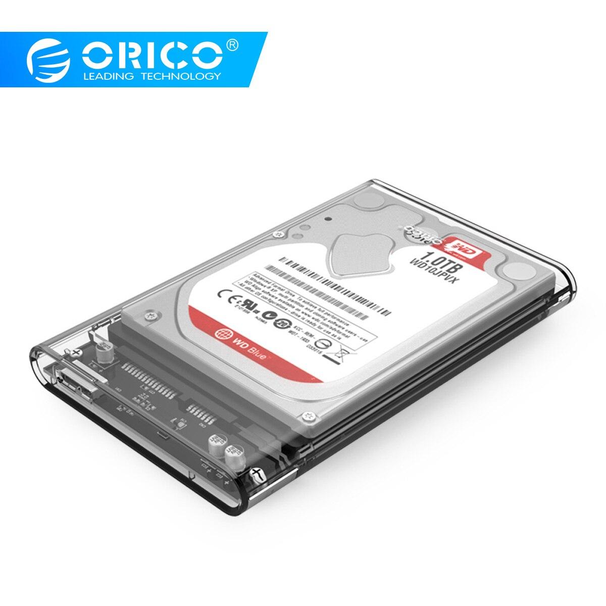 ORICO USB3.0 2139U3 2.5 Polegada Transparente Compartimento Do Disco Rígido Support Protocolo UASP Hard Drive Enclosure