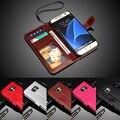 """S7 borda moda Retro PU carteira de couro Filp caso Fitfor Samsung Galaxy S7 borda G9350 5.5 """" tampa do telefone com quadro da foto"""