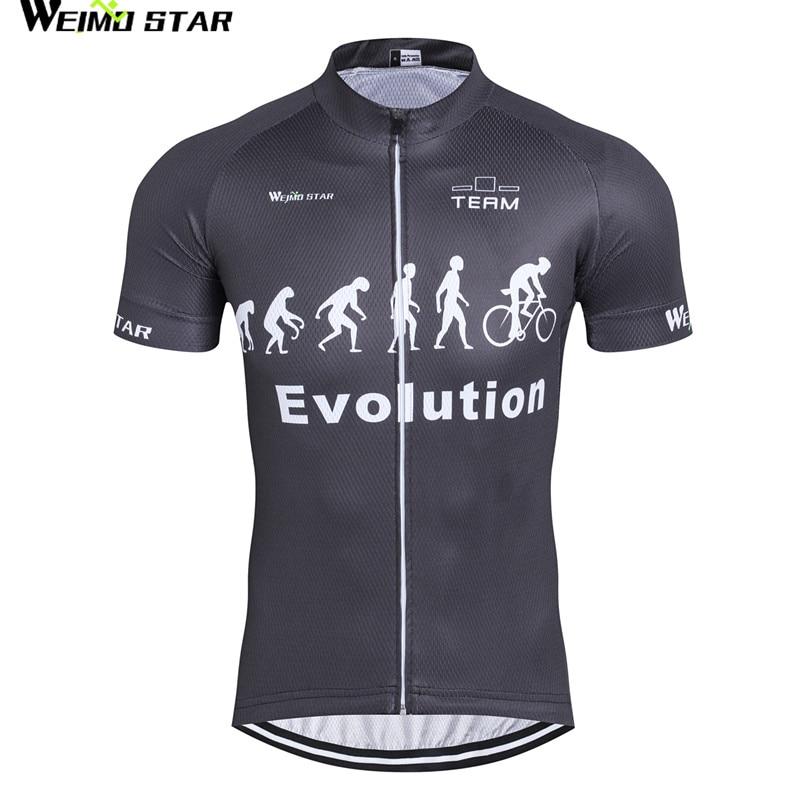 Black Cycling Jersey Men bike clothing bicycle top Ropa Ciclismo maillot MTB short sleeve Team Racing T-shirts Sports 2017
