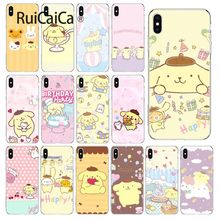 Ruicaica Sanrio pompompurin cartoon girl TPU Transparent Phone Case Cover Shell for iPhone 5 5Sx 6 7 7plus 8 8Plus X XS MAX XR