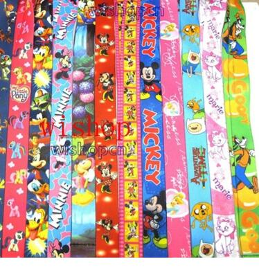 Hot Sale Mixed 100 pcs Popullar Cartoon Lanyard Key Chains Gifts Party Favors S126