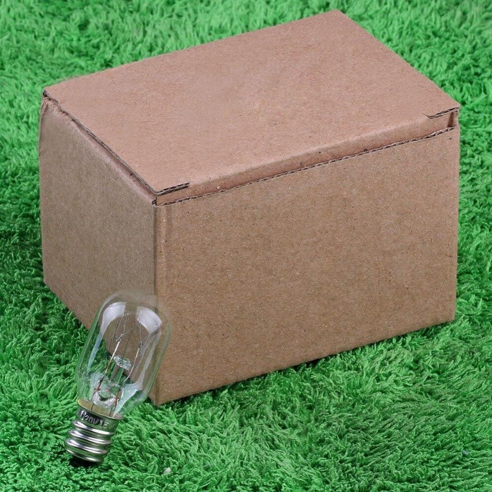 120V 15 Watt Himalayan Salt Lamp Light Bulbs Incandescent Replacement Glass Bulbs E12 Socket-6Pack