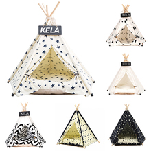 JORMEL Pet Tent Dog Bed Cat Toy House Portable Washable Pet Teepee Stripe Pattern  Fashion 2019 Contain Mat