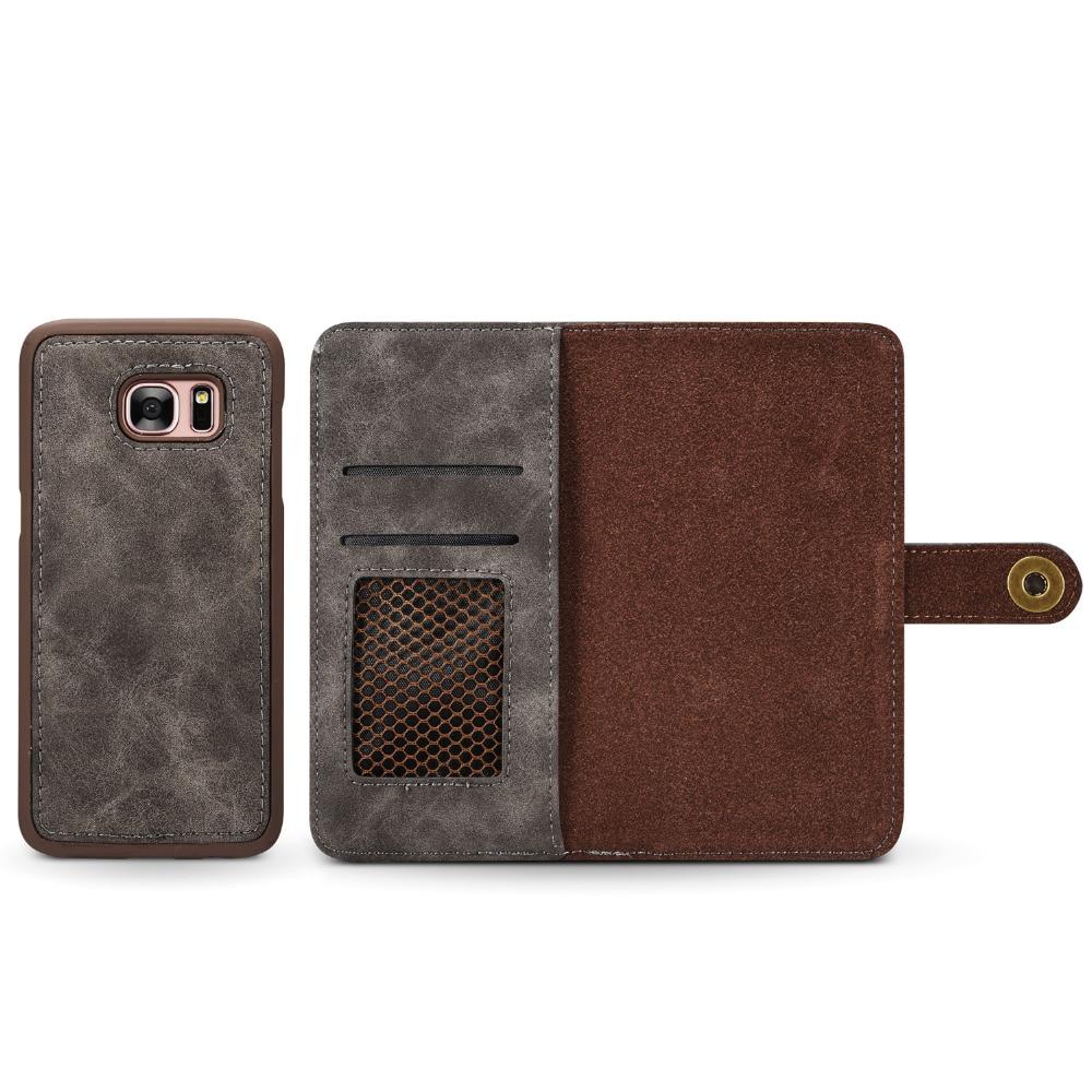 för Samsung S7 kantfodral Lyxig vintage magnetisk avtagbar - Reservdelar och tillbehör för mobiltelefoner - Foto 5