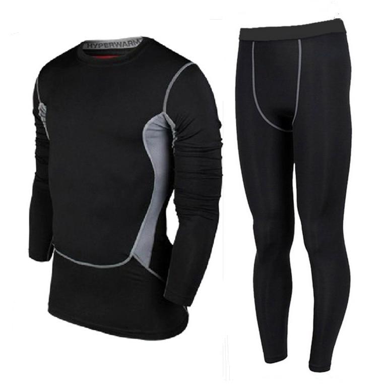 All-in-One kompresní základní vrstva tričko pánské dlouhý / krátký rukáv Jiu Jitsu Fitness Set Gym Běžecké legíny a legíny Plus velikost