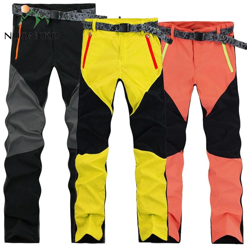 NUONEKO High Elastic Waterproof Quick Dry Hiking Pants Women Summer Outdoor Sport Trekking Camping Cycling Trousers PN13