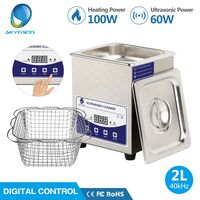 SKYMEN Digital 2L Ultrasonic Cleaner with Degas Heating Timer Bath 60W Ultrasound Machine Dental Watches Glasses Coins Tool Part