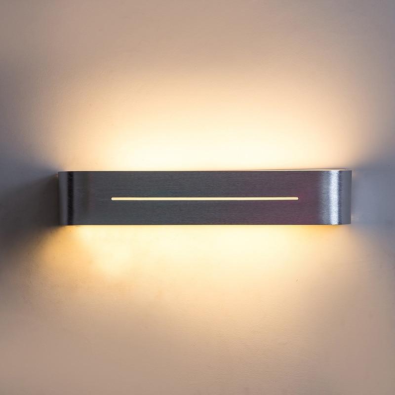 Фото 8W/10W Bathroom Mirror Light Wall Mounted 28CM/38CM Aluminum Led Wall Lights For Bedroom Wall sconce Stair Light WWL031