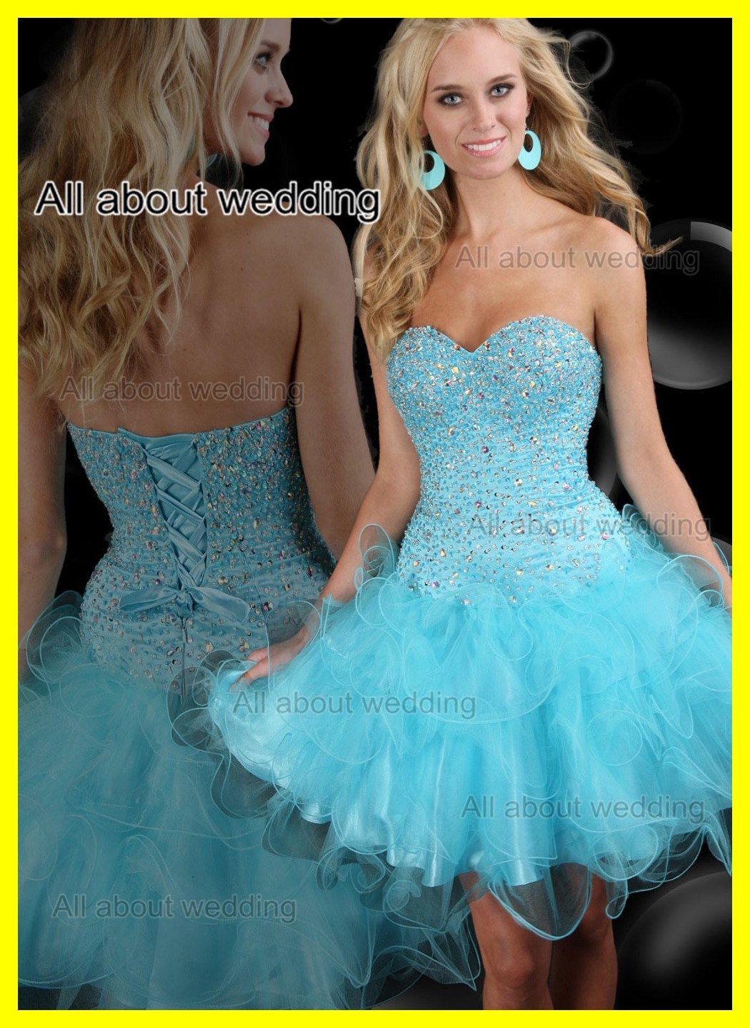 Prom Dresses For Tall Girls Wedding High School Short Pink Big Ball ...