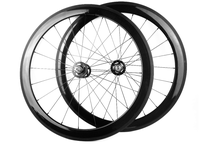 High Quality 3k Matt 700c 60mm 25mm Clincher Wheelset With Fixed Gear For Track Bike Novatec