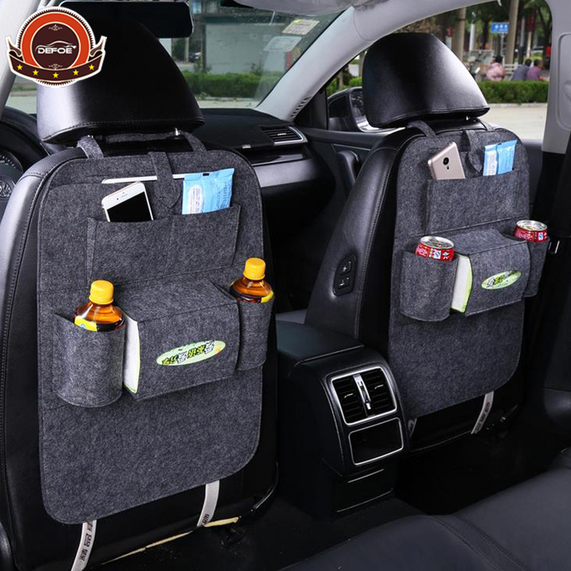 car-styling seat storage bag Hanging bags car seat back bag Car product Multifunction vehicle car storage box freeshipping