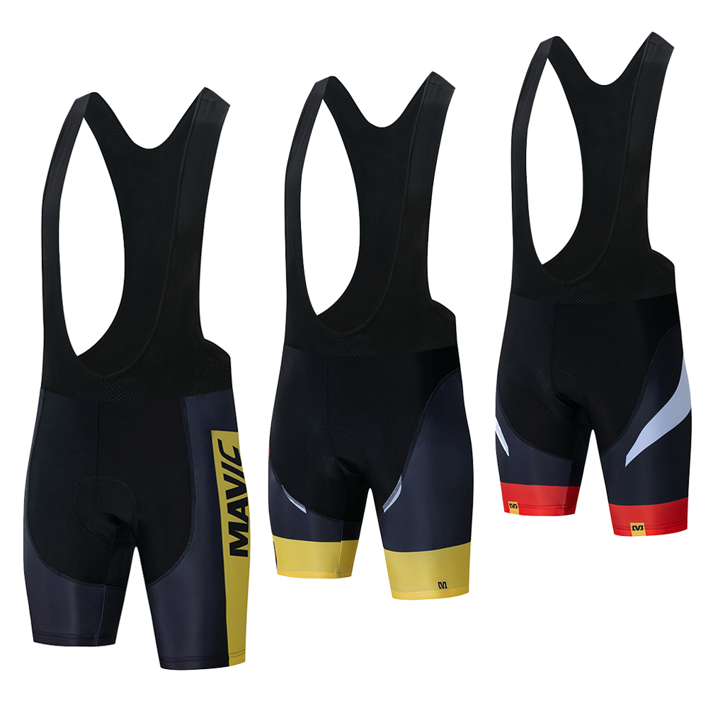 Mavic Pro Team 2019 New Cycling 9D GEL Pad Bib Shorts MTB Quick Dry Breathable Padded Sport Bike Wear Bicycle Lycra