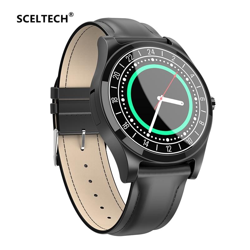 SCELTECH DT19 Bluetooth חכם שעון גברים מתכת שעוני יד חיוג שיחת קצב לב לחץ דם ספורט כושר tracker SmartWatch