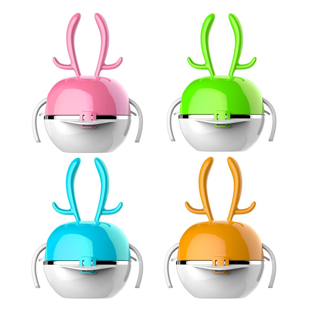 5PCS/Set Rainbow Deer Shaped Baby's Stainless Steel Food Tableware set baby food Baby Feeding Bowls dishes