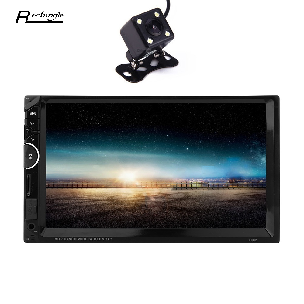 ФОТО  7'' 2 Din Car Video Player DVD Player 2Din Car Video MP5 Player Touch Screen Bluetooth FM Radio support Rear View Camera