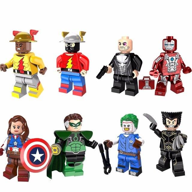 Reverter O Punisher Marvel Super Heroes Homem De Ferro do Flash Roberta Mendez Paralaxe Modelo Blocos de Construção Tijolos Brinquedos Figuras