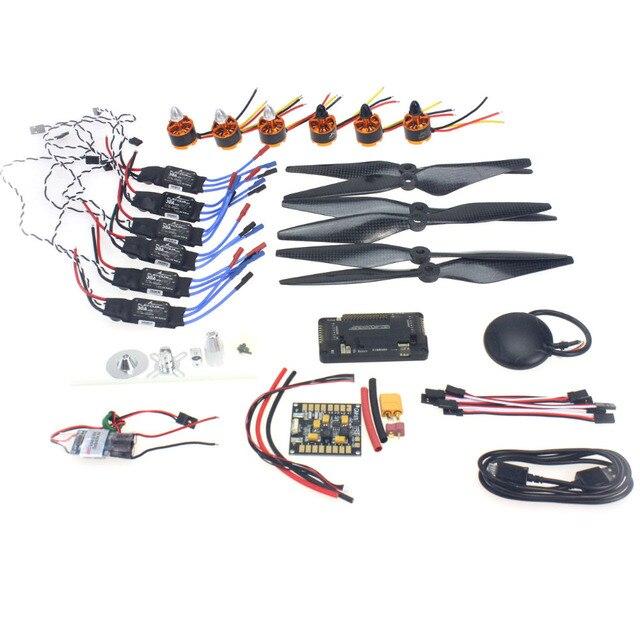 F15843-G Necesidad kits: Motor + ESC + Accesorios + APM2.8 + GPS para 550 6-Aix RC Drone Quadcopter Hexacopter del Multi-Rotor Aviones