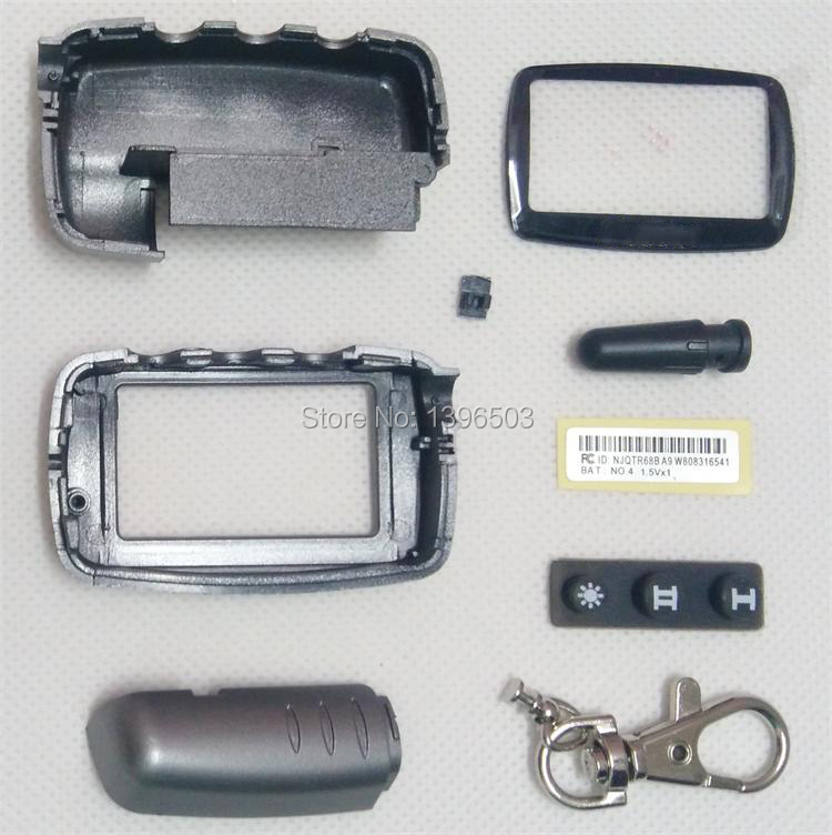 Wholesale <font><b>A9</b></font> Case Keychain for Two Way Car Alarm System <font><b>Twage</b></font> <font><b>Starline</b></font> <font><b>A9</b></font>/A6/A8/A4 2-WAY LCD Remote Control Key Fob Chain image