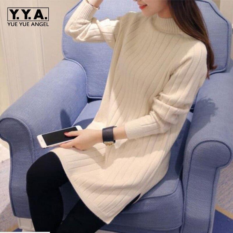 Otoño Invierno ropa nueva mujer cuello redondo de algodón mezcla Suéteres  slim fit pullover casual sweater punto de fondo suéter de lana 749d83174d86