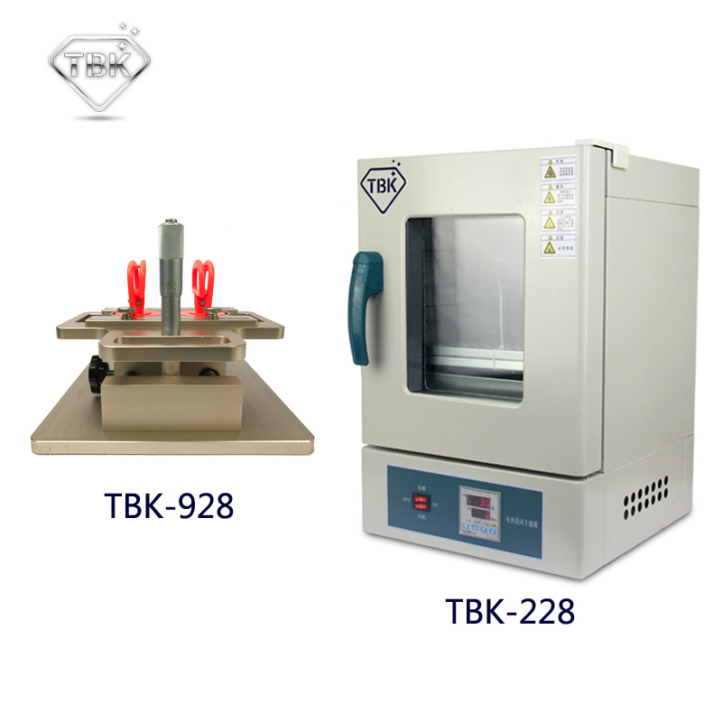 TBK-928 LCD Dismantle Machine Manual Frame Separator + TBK-228 Eletric Heating And Air Blow Seperating Roaster LCD Repairing