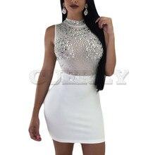 Cuerly 2019 Sexy Women Ladies Bandage Bodycon Sleeveless Dress Evening Party Nightwear Club Summer Short Slim Mini Dresses