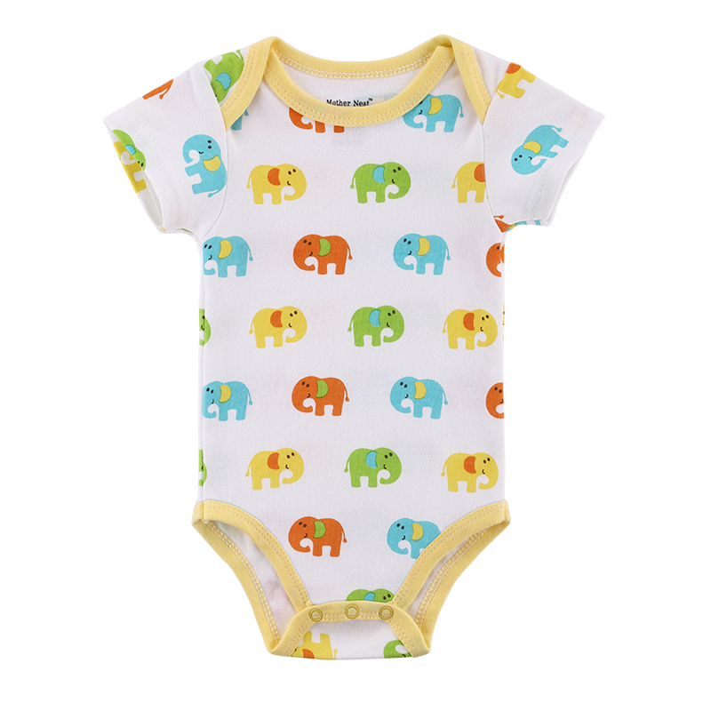 Mother nest Newborn Summer Rompers Cute Elephants Roupa de bebes Baby Girl Boy Jumpsuit Floral Infantil Outfit Clothes Coveralls 2016 bebe rompers ropa pink minnie hoodies newborn long romper baby girl clothing roupa infantil jumpsuit recem nascido