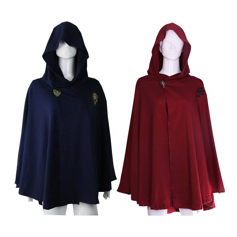 Game WoW Alliance Cloak Unisex Adult Hoodie Cape Poncho Cosplay Costume Halloween Carnival Uniforms With Badge Custom Made