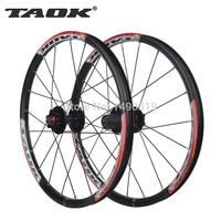 Taok Original 20 Inch 20 Holes 406 Rim Folding Bicycles Mountain Disc Brake Wheel Wheelset By