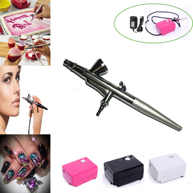AirBrush kit with Compressor Air brush Gun 0.4mm Needle Set nail Art Makeup Body Painting tools Car Cake Toy dotting tool цены онлайн
