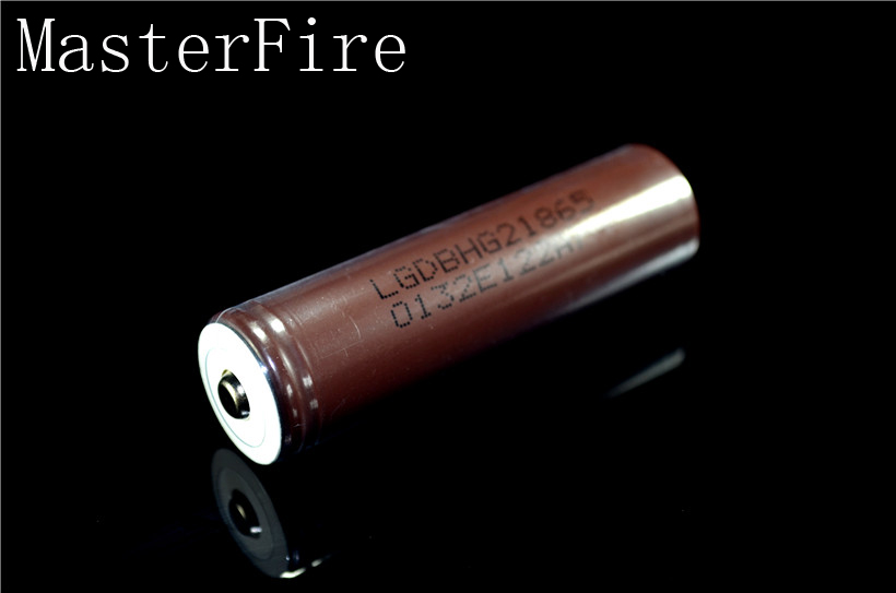 MasterFire New Original LG HG2 18650 3000mAh 18650HG2 3 7V Pointed Battery discharge 20A For electronic