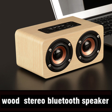 Fine wood Bluetooth sound box stereo hyper bass high fidelity HiFi effect full frequency double speaker stage reverberation effe